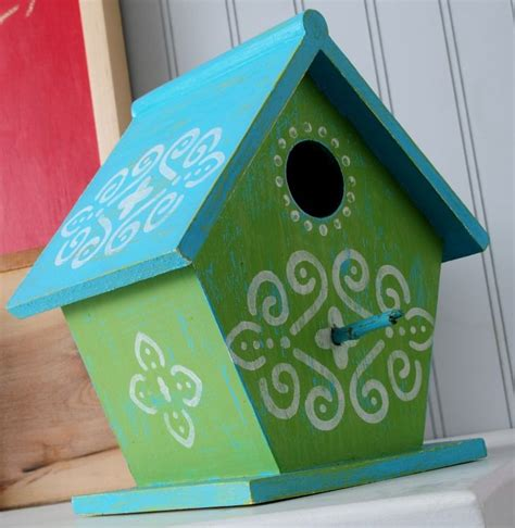 painted bird houses designs easy painted bird houses