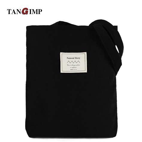 Geometric Vintage Big Eco Ethnic Shoulder Tote Bag tangimp 2017 corduroy handbags vintage solid black big