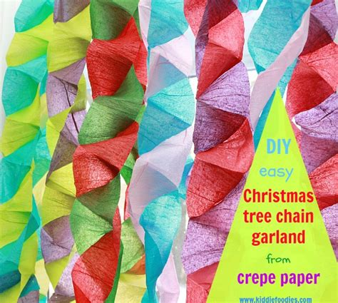 How To Make Crepe Paper Garland - crafts for crepe paper tree