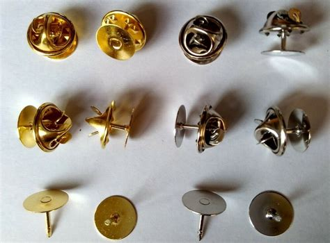 brass scatter blank pad tie tacks tacs pin back clothes jewelry finding brooches ebay