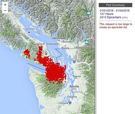 earthquake vancouver wa 2 000 small earthquakes have hit the pacific northwest