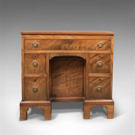 antique kneehole desk knee circa 1870 for