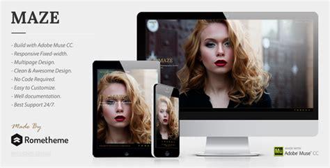 maze photography portfolio muse template themekeeper