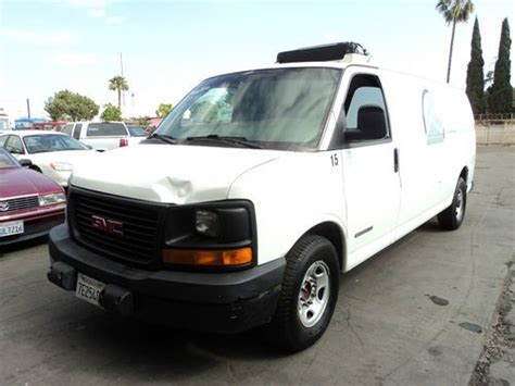 sell used 2003 gmc savana 3500 base extended cargo van 3 door 6 0l no reserve in orange