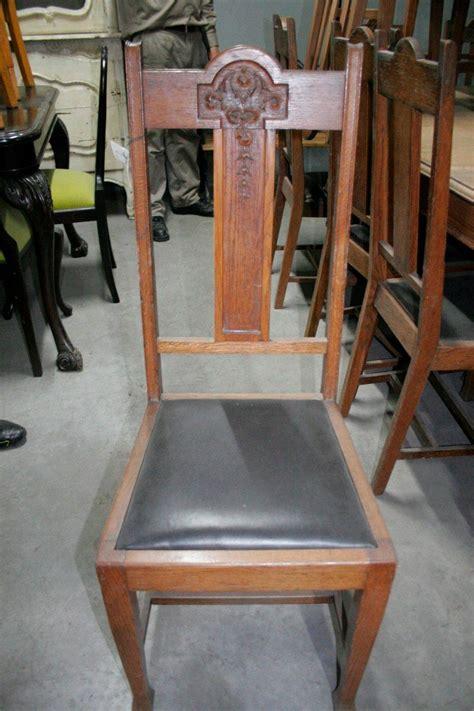antiguo juego de  sillas  sillones de comedor de roble