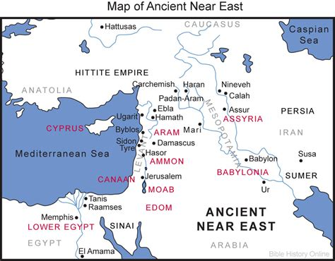 ancient middle east map map of the ancient near east bible history online