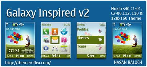 Nokia 2690 Galaxy Themes | galaxy inspired v2 theme for nokia x2 00 x2 02 x2 05 x3