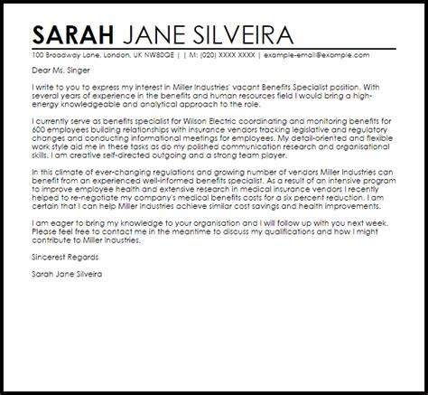 cover letter for benefit cosmetics benefits director cover letter sarahepps