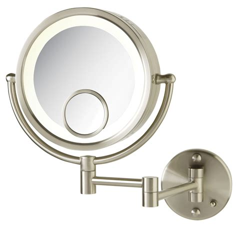 jerdon lighted magnifying mirror jerdon 7x 1x w 15x spot magnification lighted wall mount