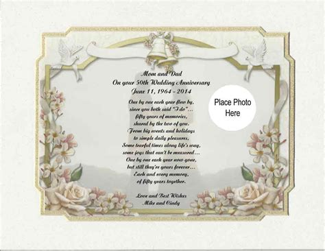 50th wedding anniversary poems in personalized 50th wedding anniversary poem by