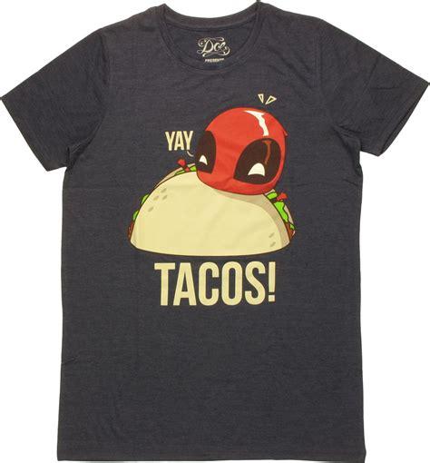Hoodie Deadpool Tacos Anime Deadpool Yay Tacos Boyfriend T Shirt
