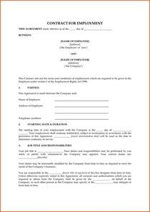 simple work contract template employee contract template template employment contract uk