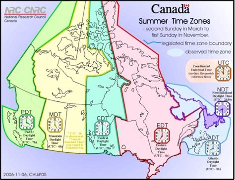 canadian map and time zones canadian daylight saving time 11 march 2012 at 2 a m