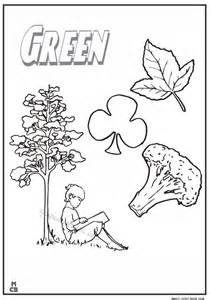 green coloring pages green color with picture free printable pages