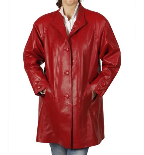 red swing coat 3 4 length red leather swing coat from simons leather