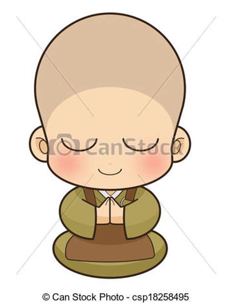imagenes de japon caricaturas stock de ilustraciones budista monje jap 243 n stock de