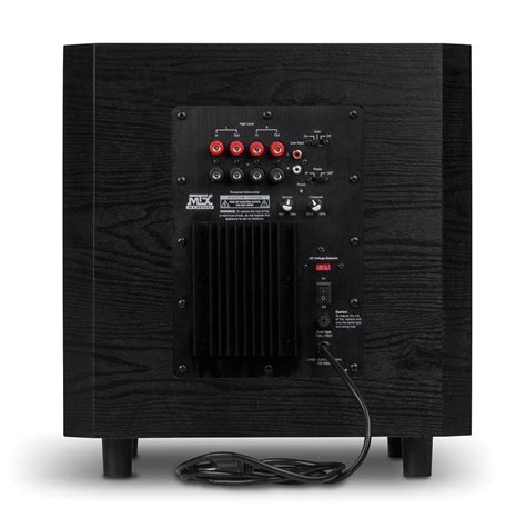 tsw  home theater powered subwoofer mtx audio