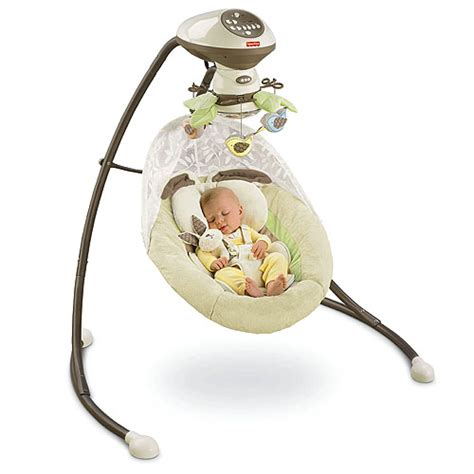 baby swing from birth fisher price my little snugabunny baby cradle n swing ebay