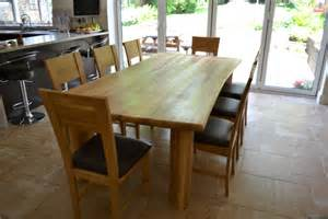 chunky solid oak 8 seater dining set