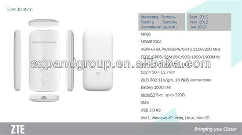Modem Zte Mf65 21 Mbps By Gasol by Zte Mf65 3g Hspa 21 6 Mbps Mobile Wifi Wireless Hotspot