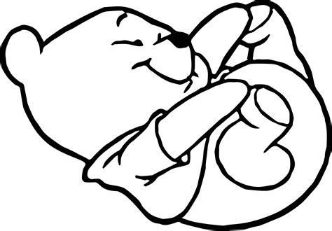 baby pooh little foot coloring page wecoloringpage
