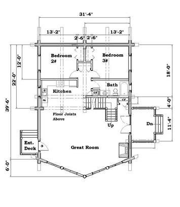 cabin dimensions cabin plan 4 schweitzer log home plan