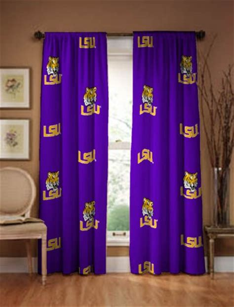 lsu curtains lsu tigers 100 cotton curtain panels drapes 42 quot x 63 quot 4