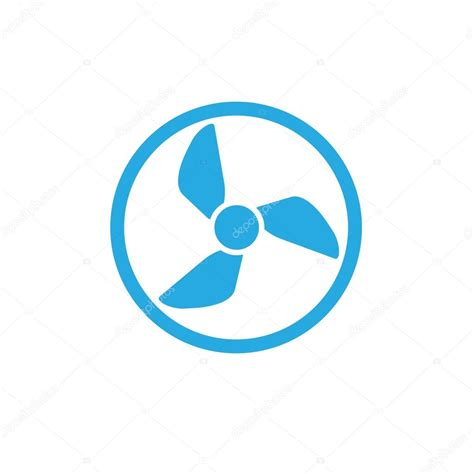 image of a fan vcentilator fan propeller vector symbol icon stock