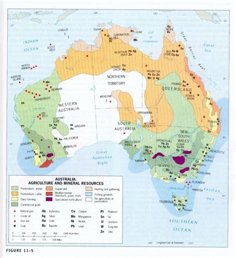 australia resource map introduction to australia