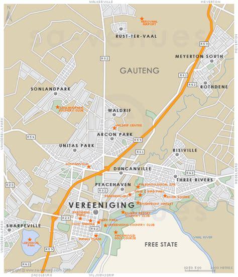 map of vereeniging vereeniging map