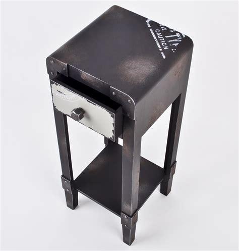 tisch industrial style beistelltisch industrial style tisch container metall 1