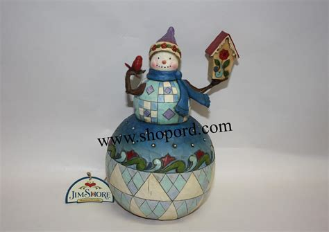 jim shore theres no place like home snowman with birdhouse
