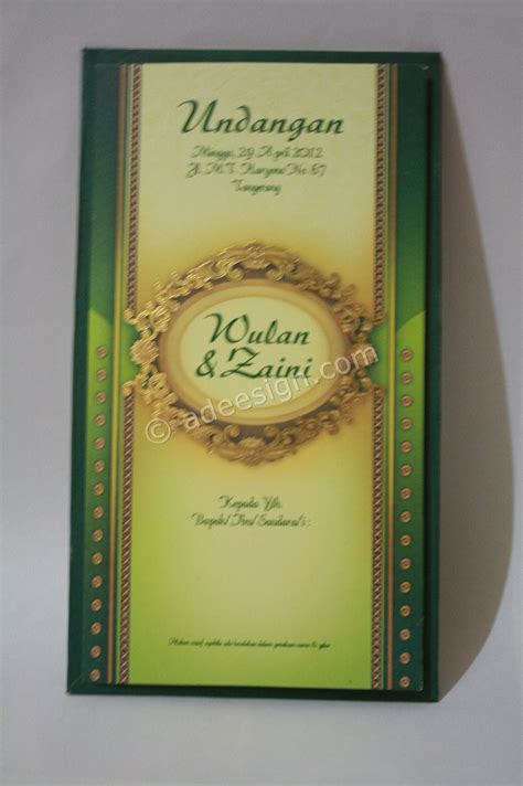 Undangan Pernikahan Toni Wulan kartu undangan pernikahan semi hardcover wulan dan zaini