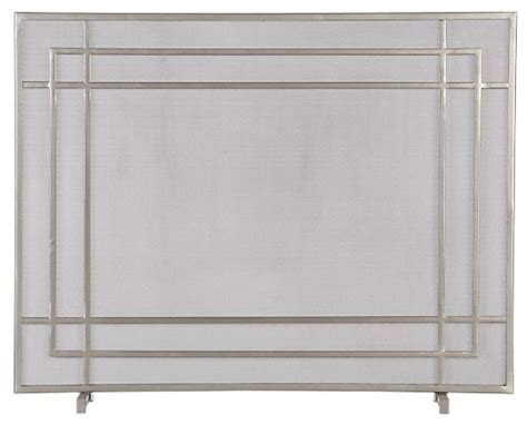 alton ii pewter fireplace screen modern fireplace