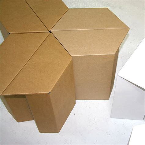 Rak Buku Hexagonal creative cardboard furniture ideas