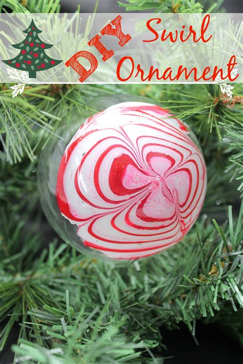 diy swirl christmas ornament simply being mommy