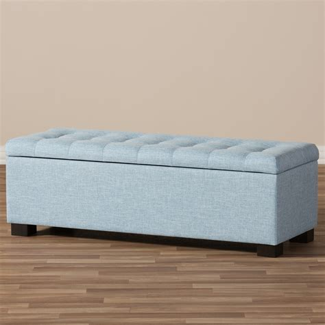 blue fabric ottoman baxton studio roanoke modern and contemporary light blue