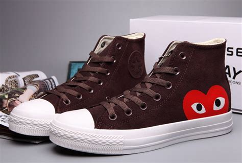 Converse Black Cover Brown fashion converse brown comme des garcons suede chuck