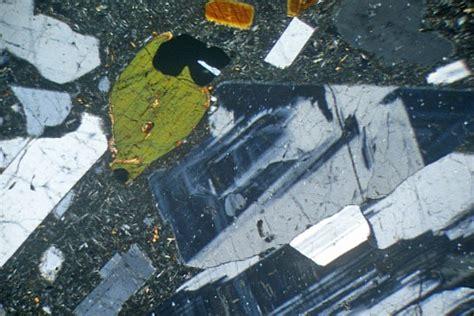 sanidine in thin section sanidine trachyte laacher see eifel germany thin section
