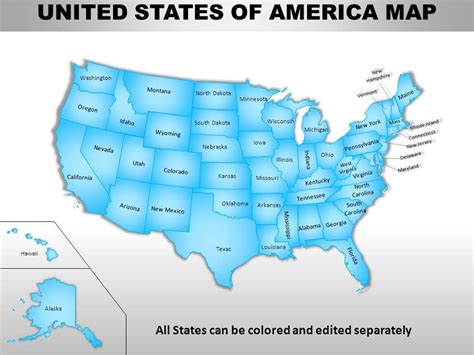 Usa Country Powerpoint Maps Us Map Powerpoint Template Free