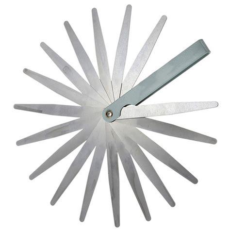 Feeler Set 13 Blade new feeler set 17 blades metric inch thickness gage set for metric sae ebay