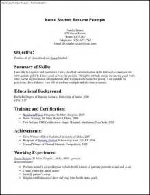 Resume Templates For Nursing Students by Nursing Student Resume Template Free Sles Exles Format Resume Curruculum Vitae