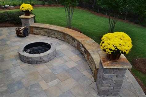 paver pit kit atlanta retaining walls personal touch lawn care