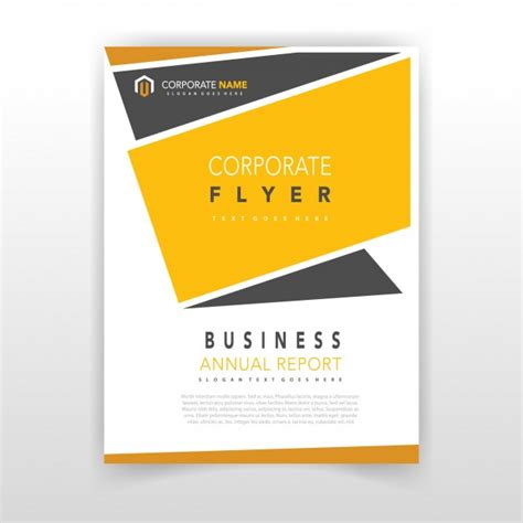 design flyer online free yellow coporate flyer design vector free download