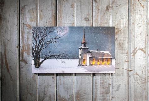 lighted church canvas lighted wall roselawnlutheran