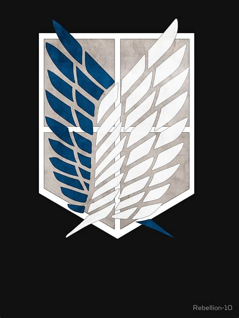 the logo of the survey corps from the great anime attack