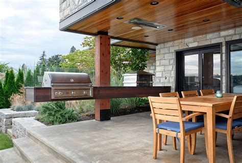 Awnings Nyc Outside Grill Ideas Deck Transitional With Barbecue Bbq