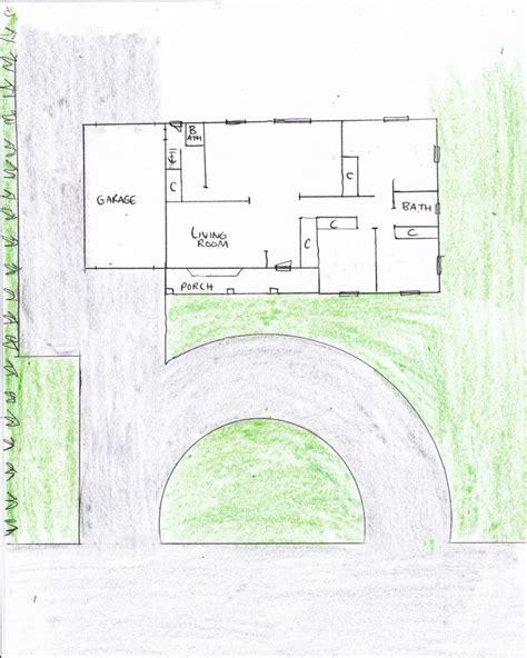 fascinating teardrop driveway gallery plan 3d house