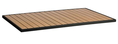 outdoor table top 24 quot x 32 quot synthetic teak commercial outdoor table top with
