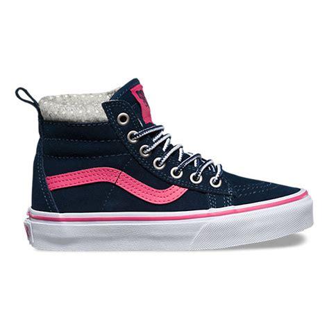 Vans Navy Pink Wam sk8 hi mte shop at vans
